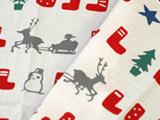 梨園染め手ぬぐい クリスマス